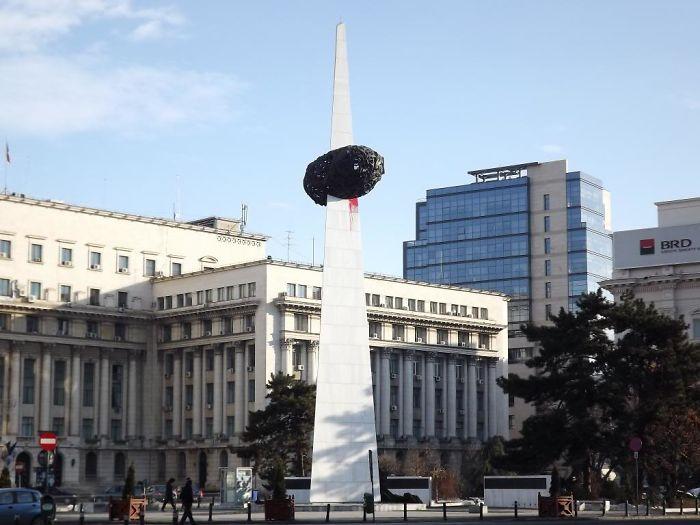 Bucharest ,romania , Revolution Square . This Must Be An Potato