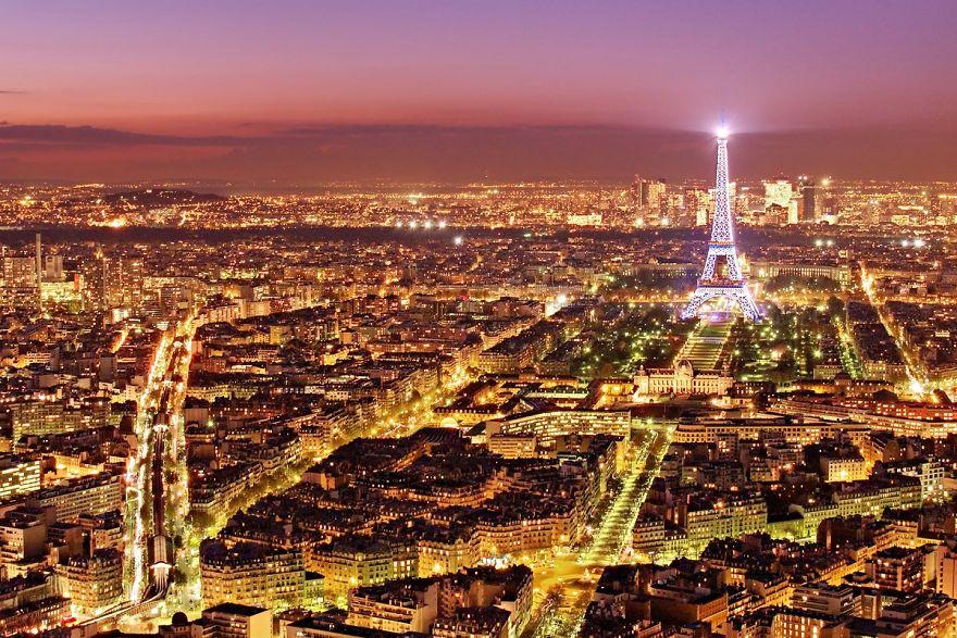 фото ночного города для фона