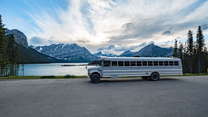 We Transformed A School Bus Into A 'Loft On Wheels' And Now We're Traveling Around The World In It