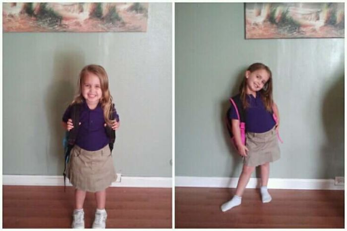 1st Day Of Pre-k And Last Day Of Pre-k