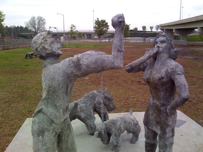 "Huntsville, Alabama: Dog Park Sculpture – ""common Scents"""