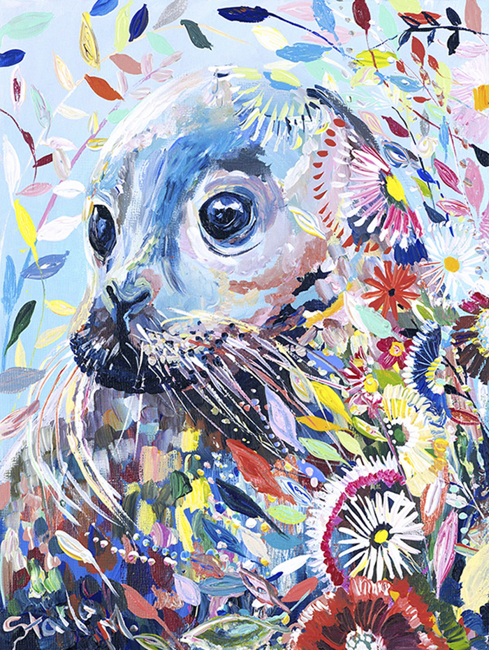 Seal Canvas Painting