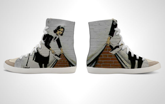 We Designed 12 Sneakers With Banksy's Work That Will Make You Feel Rebellious
