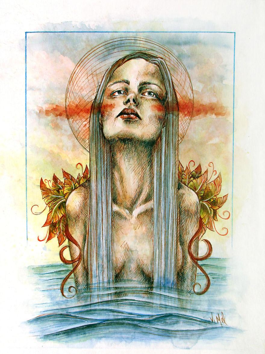 I Painted Series Exploring Female Soul