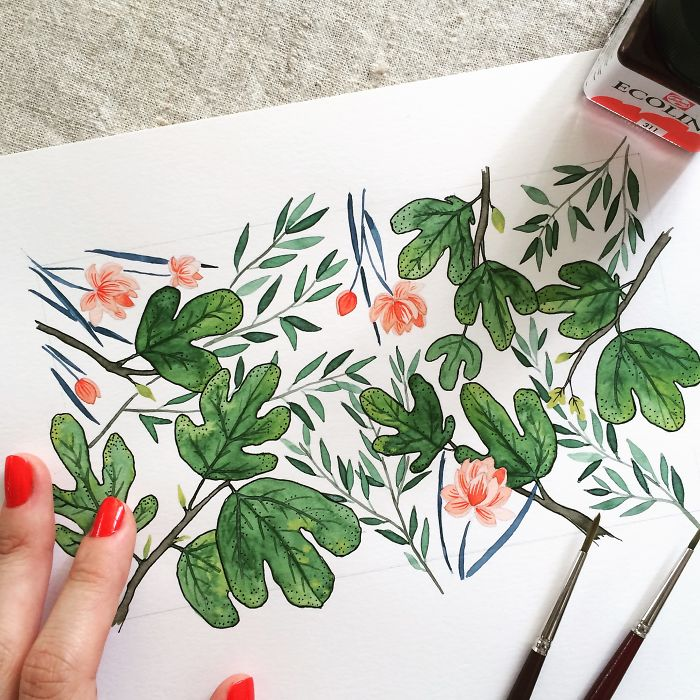 I Create Floral Illustrations