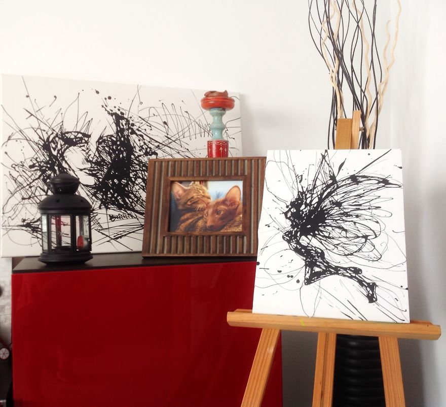 Mixing Abstract With Realistic In Drip Painting