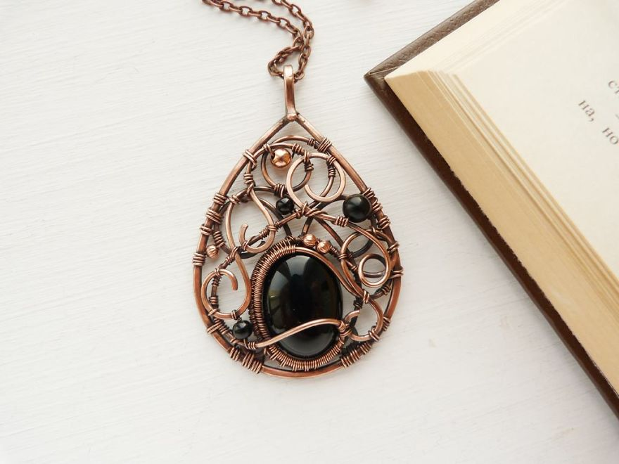 Nature And Wire - My Love. Unique Wire Wrapped Jewelry Was Inspired By Nature.
