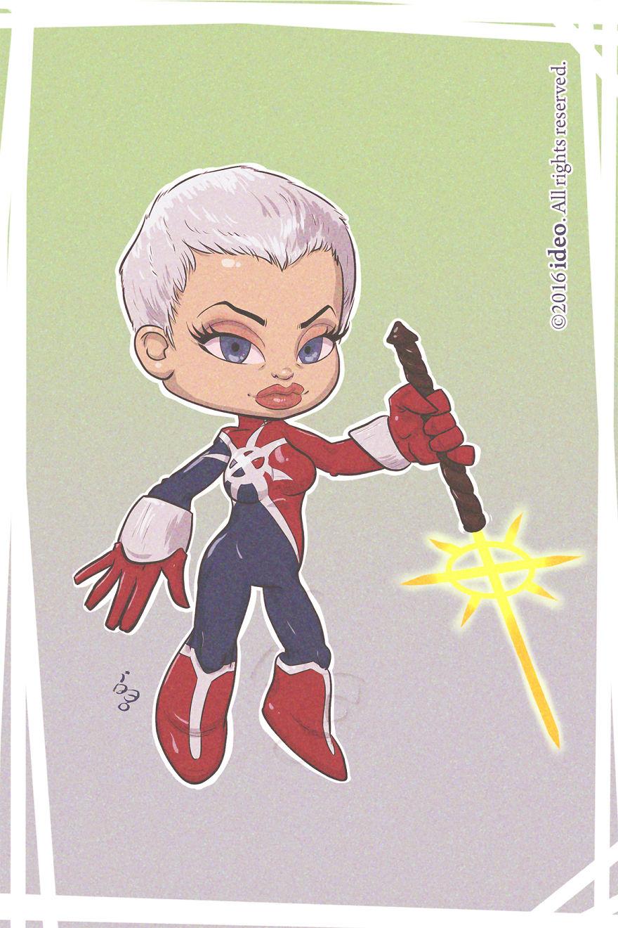Chibi Phyla Vell (captain Marvel)
