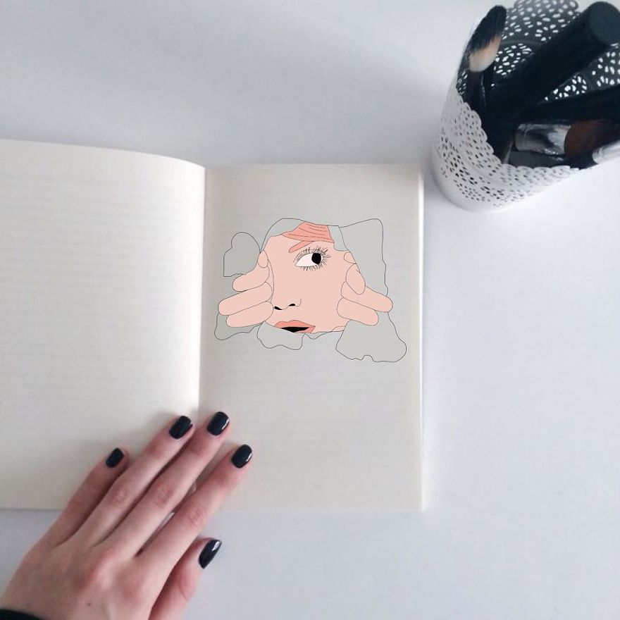 Polish Artist Uses Found Photographs To Create Funny Stories