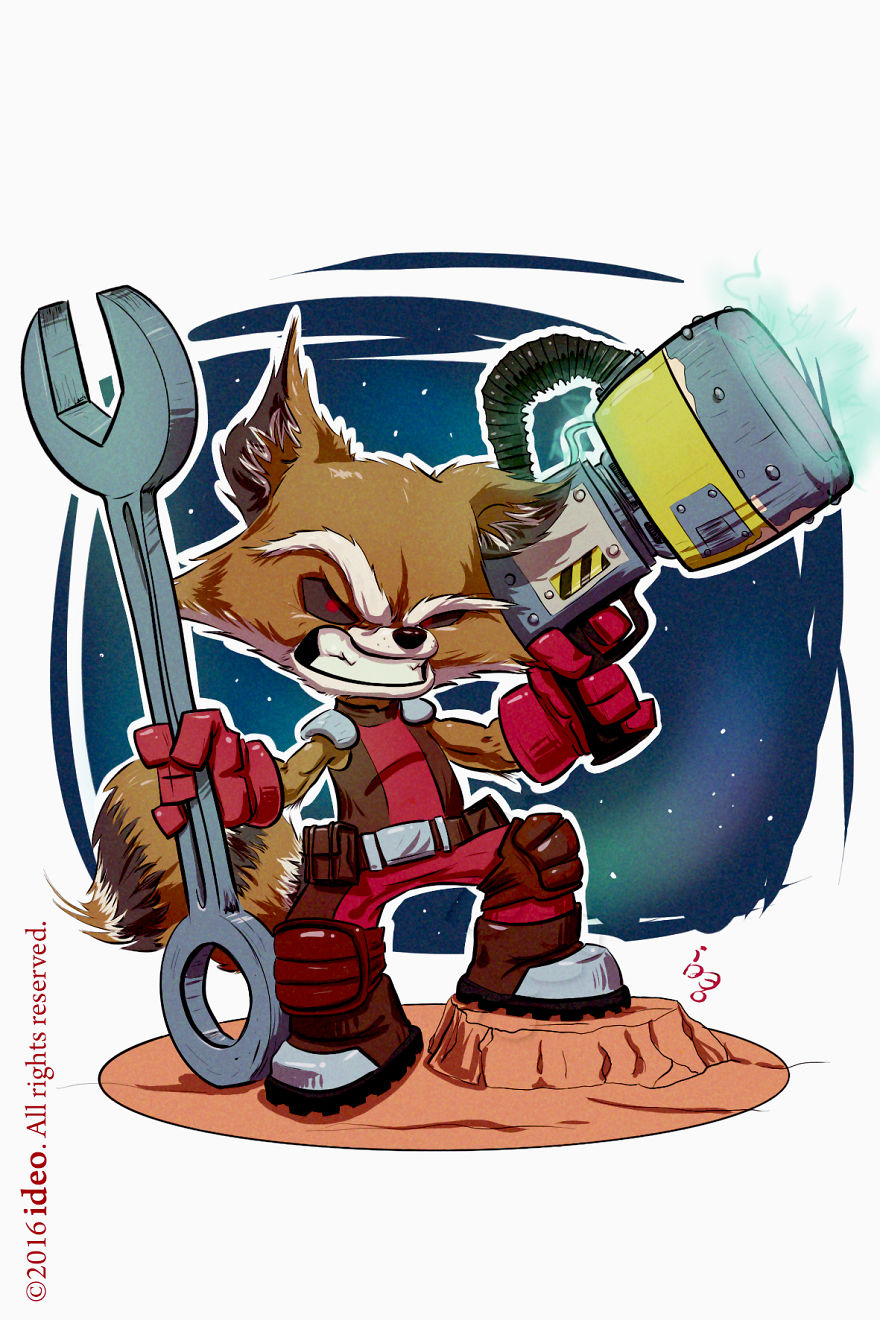 Chibi Rocket Raccoon