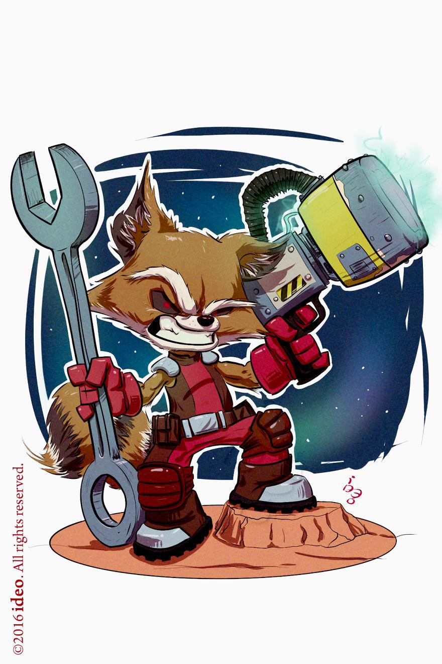 Chibi Rocket Raccoon