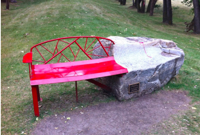 Red Rock Bench, Calgary Canada