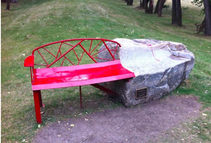 Red Rock Bench, Calgary Canada