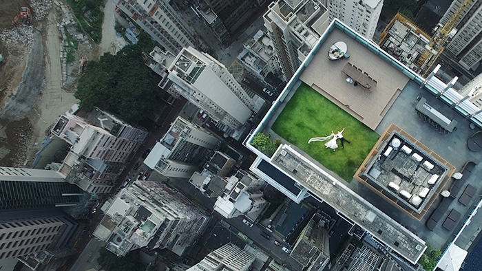 accidental-drone-photo-newlyweds-rooftop-brandon-li-1