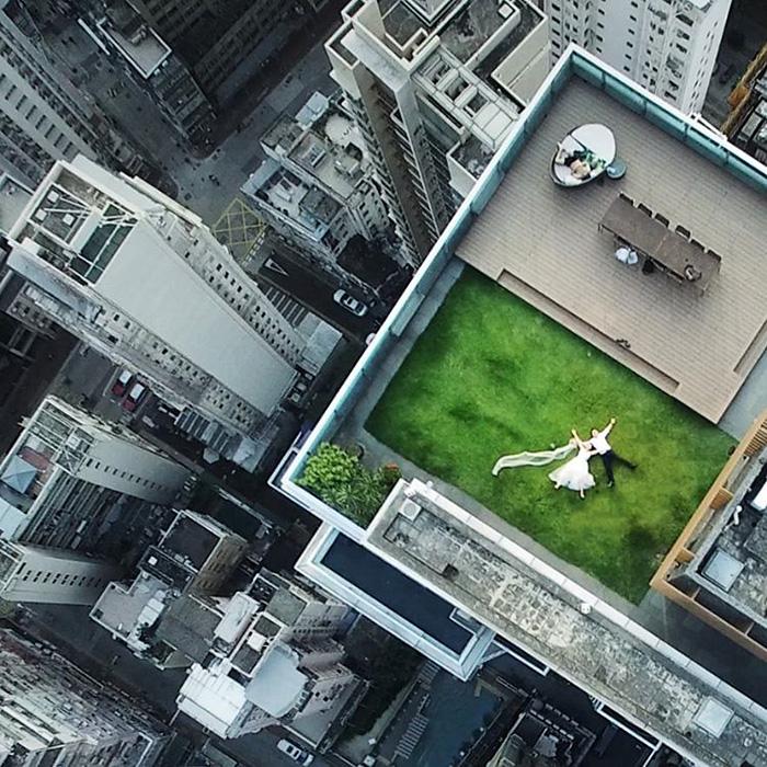 accidental-drone-photo-newlyweds-rooftop-brandon-li-2