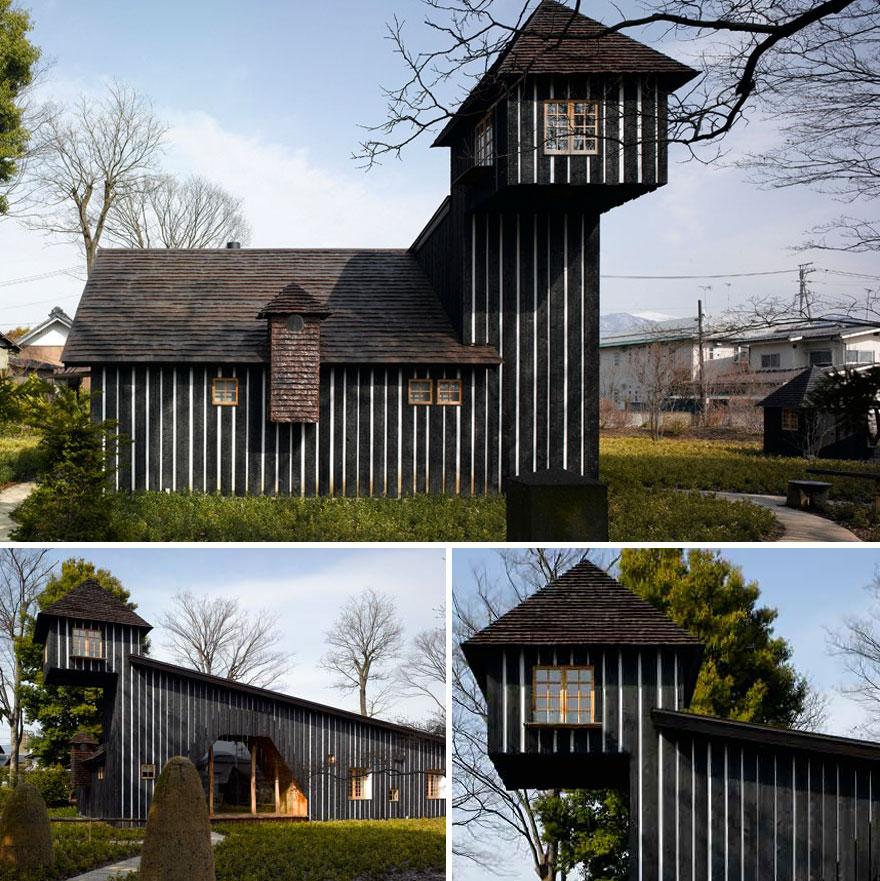 Yakisugi House (charcoal House) In Nagano, Japan