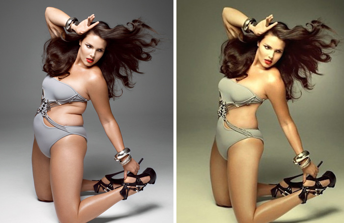 10+ Celebrities Before And After Photoshop Who Set Unrealistic ...