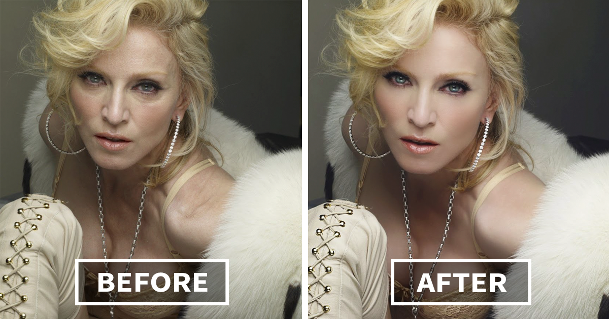Celebrities Before And After Photoshop Who Set Unrealistic - This shocking video shows how photoshopped models are
