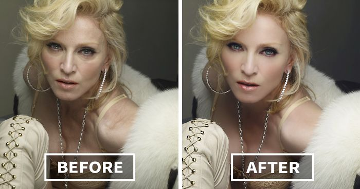 57 Celebrities Before And After Photoshop Who Set Unrealistic Beauty  Standards | Bored Panda