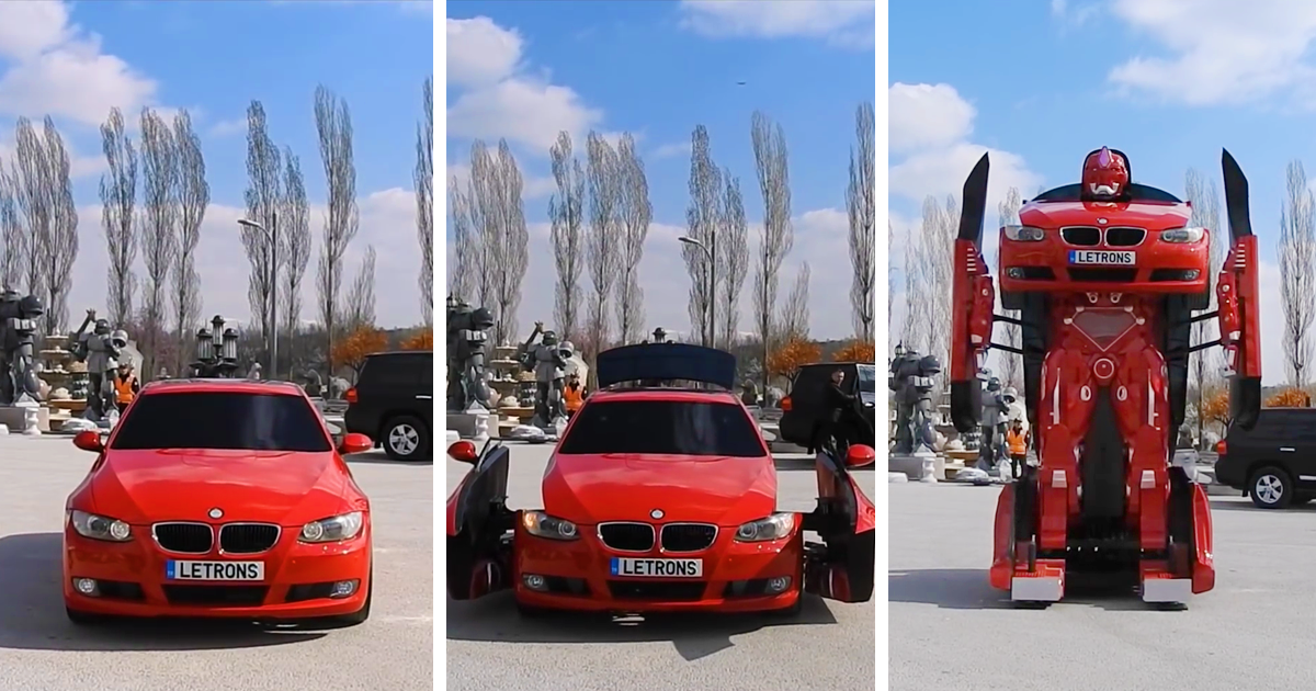 Turkish Engineers Just Made A Real Life Driveable BMW Transformer (Video) |  Bored Panda