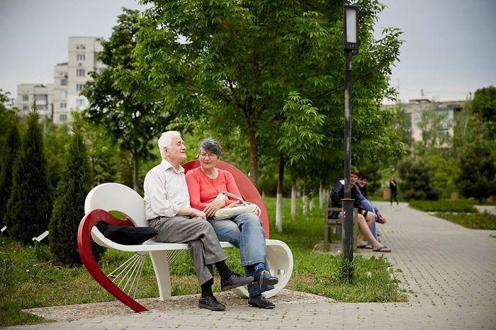 Love Bench, Moldova Chisinau