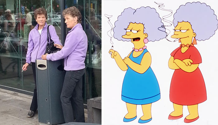 Patty And Selma From The Simpsons