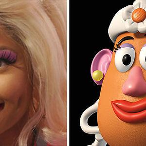 Nicky Minaj Looks Like Mrs Potato Head