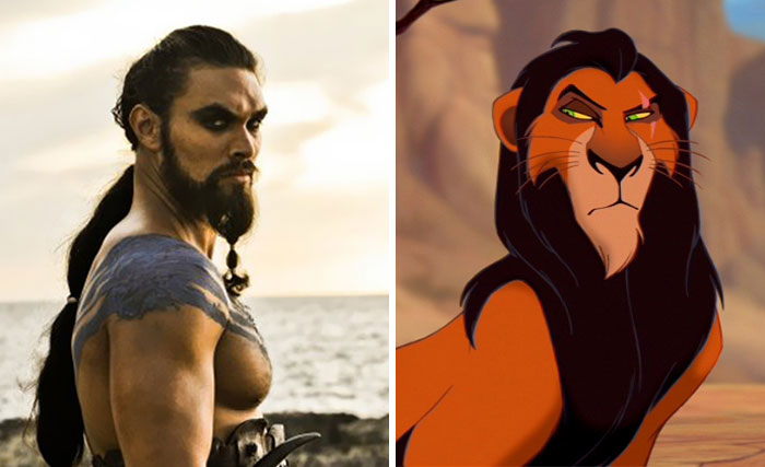 Khal Drogo Looks Like Scar From Lion King