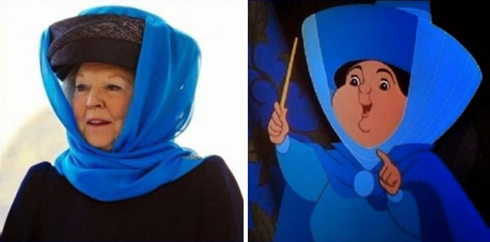 This Old Lady Looks Like Merryweather From Sleeping Beauty