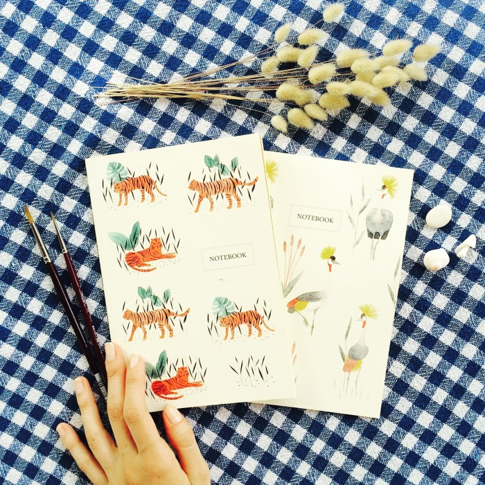 I Create Watercolor Patterns And Turn Them Into Handmade Stationery Goods