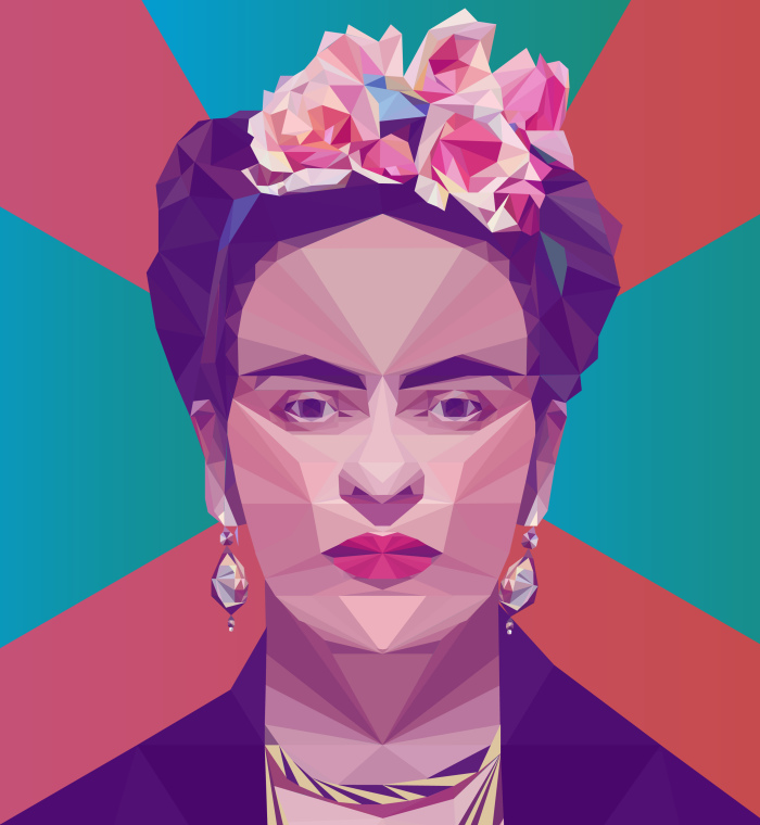 I Create Portraits Of Famous People Out Of Triangles