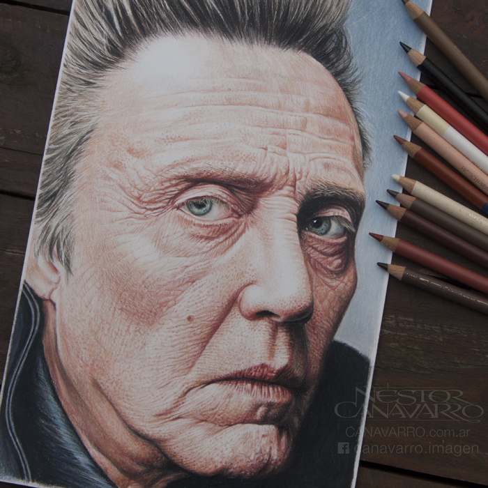 It Took Me 25 Hours To Draw This Portrait Of Christopher Walken With Colored Pencils
