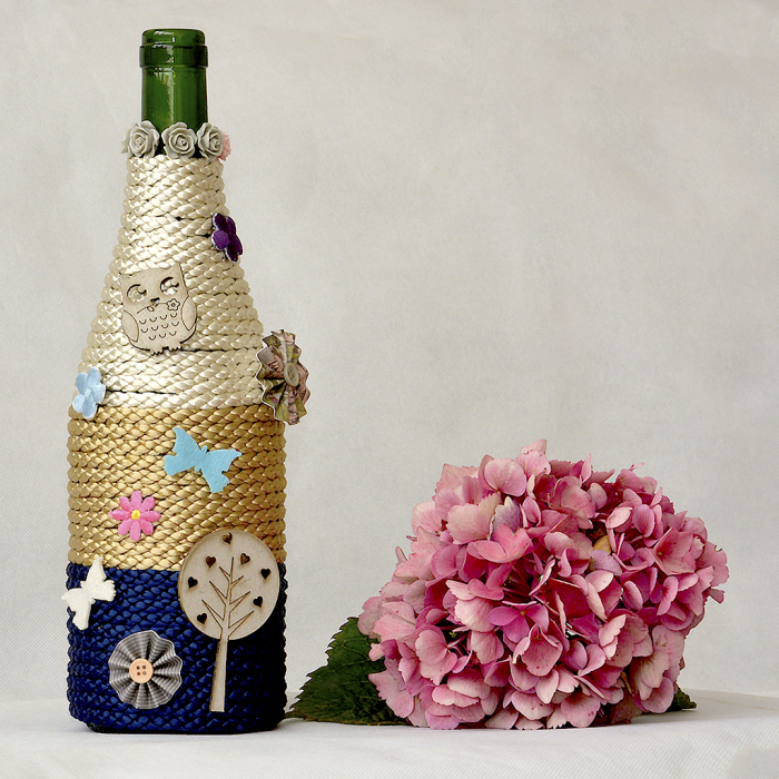 I Made This Beautiful Home Or Baby Shower Decor From Wine Bottle