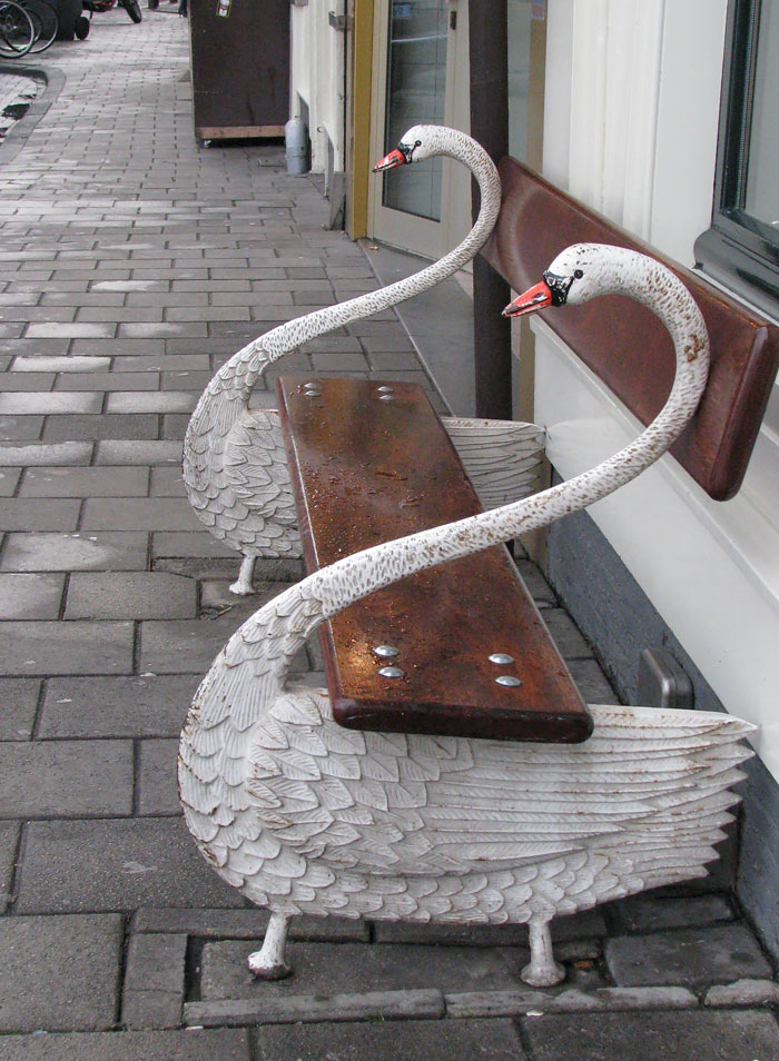 Swan Bench In Amsterdam