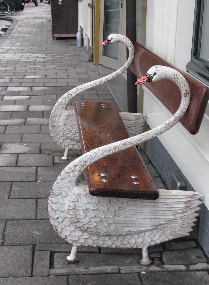 Swan Bench In Amsterdam
