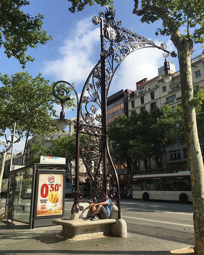 Light Bench In Barcelona