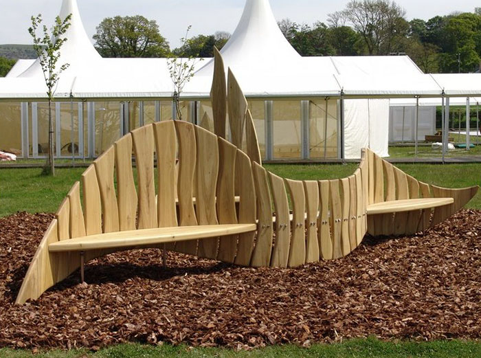 Sustainable Wooden Bench In United Kingdom