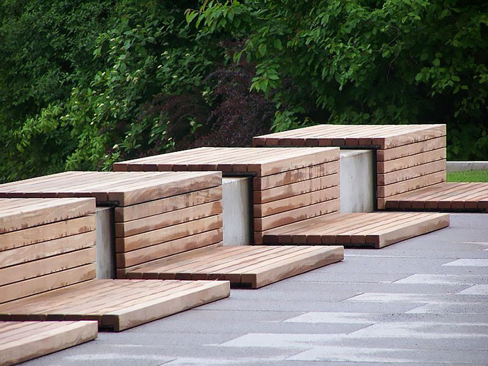 Creative Wood Benches