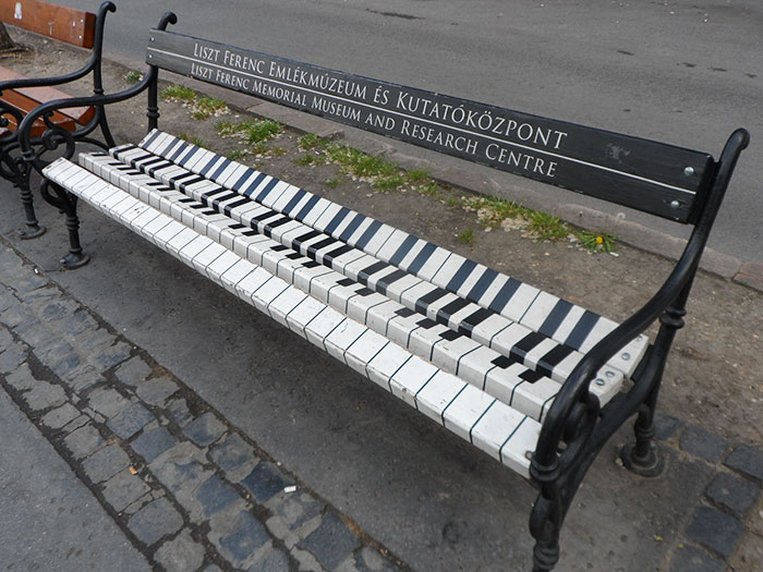 Piano Bench In Andrassy Ave, Budapest
