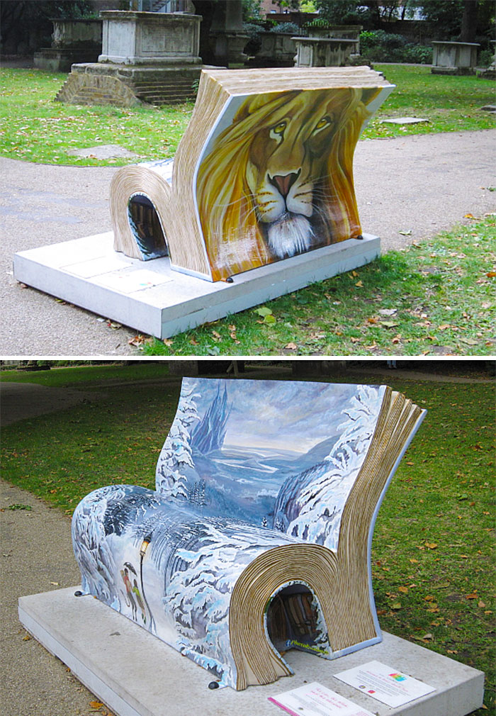 The Lion The Witch And The Wardrobe Book Bench, London