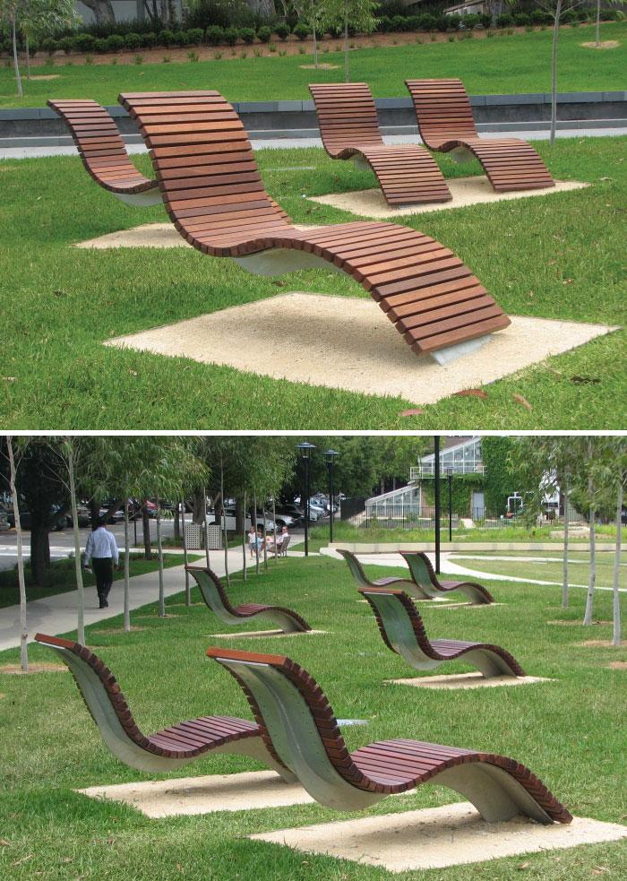 Custom Curve Seats, Cadigal Green, University Of Sydney, Australia