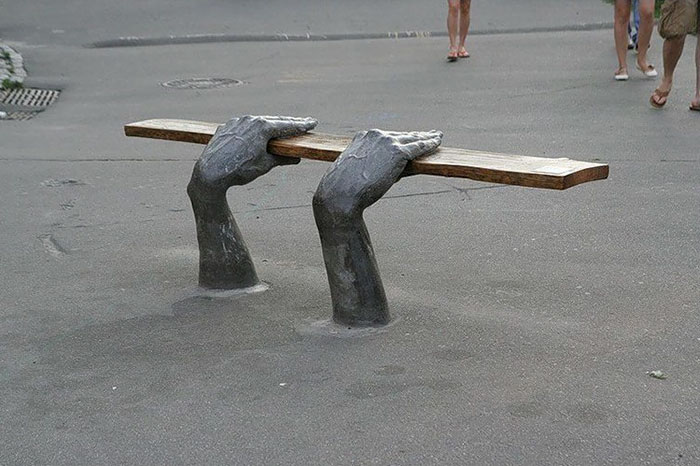 Bench In Kiev, Ukraine