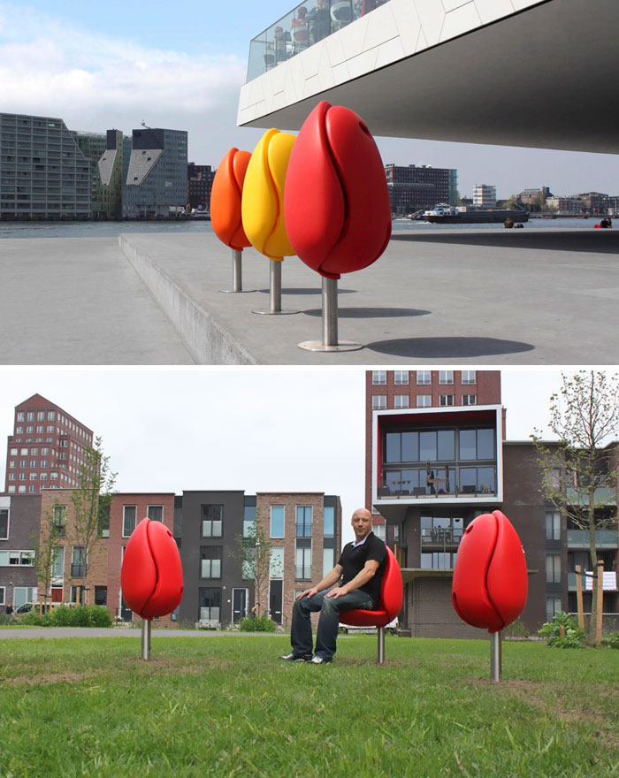 Seats In The Shape Of A Tulip By Tulpi Design