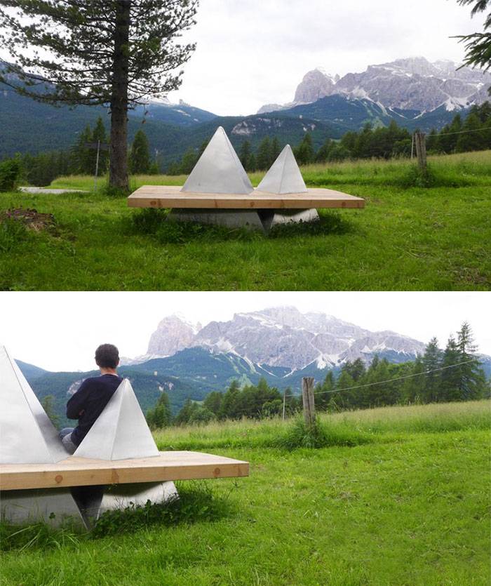 Mountain Inspired Benches