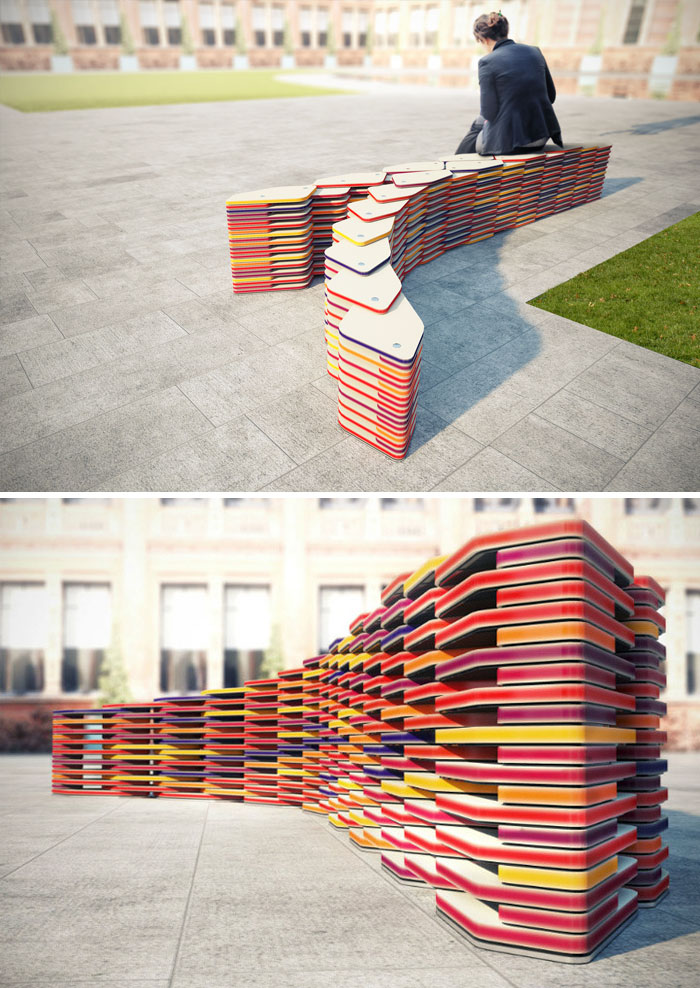 Bench Of Plates By Al_a