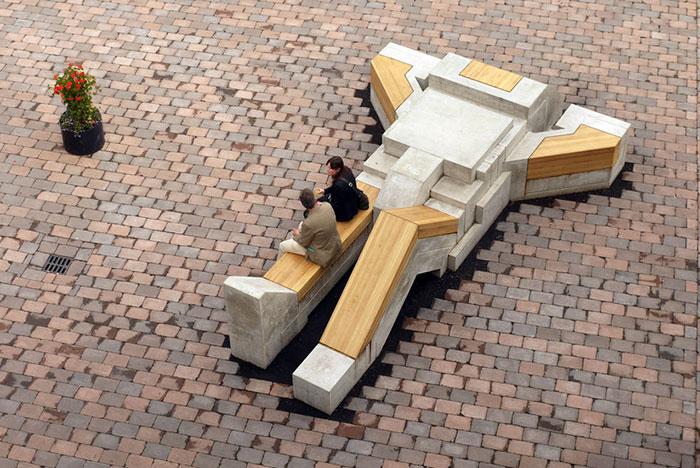 Robot Bench In Enschede, Netherlands