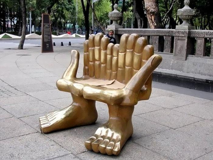 Unique Public Bench