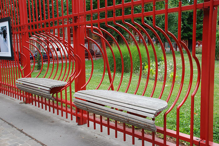 Benches In Jean Baptiste Lebas Park, Lille, France
