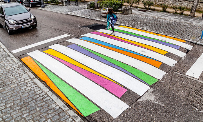 Madrid's Crosswalks Turned Into Colorful Works Of Art By Bulgarian Artist