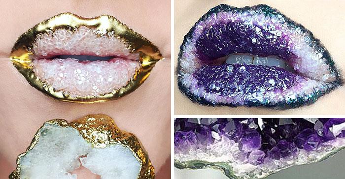 Geode Lips Literally Rock
